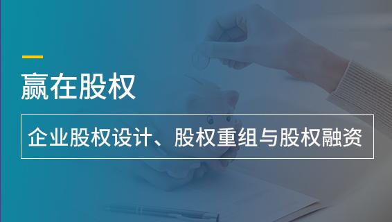 財務經理培訓課程-贏在股權——企業股權設計、股權重組與股權融資